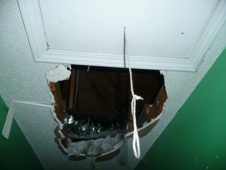 Hole in Ceiling to Attic